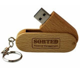 Keyring Wooden Flash Memory Stick Swivel Bamboo USB Flash Drive