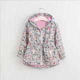 Long Sleeve Girl's Cute Little Floral Cap Jacket