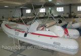 15.5ft Rib470c Recsue Boat with PVC Fiberglass Hull Rigid Inflatable Boat
