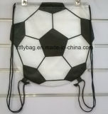 Football Shaped Drawstring Backpack/ Football Bag