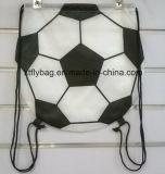 Football Shaped Drawstring Backpack/ Football Bag