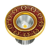LED Brass Spotlight with Antique Finish