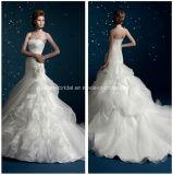 Strapless Organza Mermaid White Bridal Gowns Wedding Dresses Z5050