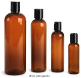 Amber Pet Cosmo Rounds Plastic Bottles with Dispensing Oil Cap