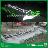 Raceway Mounting Advertising Acrylic Alphabet Letter Sign with LED Light