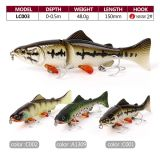 Wholesale 150mm Multi-Jointed Plastic Fishing Lure