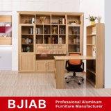 Customized Yellow Sandalwood Modern Metal Home Furniture Aluminum Office Bookcase