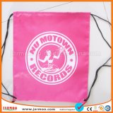 Hot Sale Red Promotional Waterproof Nylon Drawstring Bag