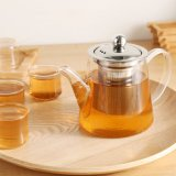 High Borosilicate Glass Teapot with Stainless Steel Filter