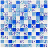 Chinese Style Flashy Crystal Glass Mosaic Ceramic Mosaics