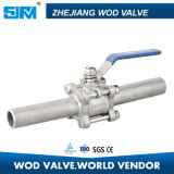3 Piece Long Extended Welded Ball Valve