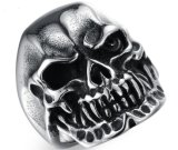 Men′s Skull Bone Biker Rings Punk Scorpion Stainless Steel Male Retro Jewelry Male Retro Jewelry Halloween Undead Decorations Accessories