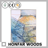 Colorful Home Decoration Abstract Art Painting in Wood Frame