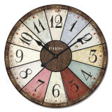 Customed Promotional Wooden Clock, Wholesale Antique Clock, Wall Hanging Clocks