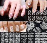DIY Decoration 3D Flower Lace Nail Art Stickers Nail Sticker