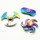 3 Fish Tails End Metal Rainbow Hand Spinners Fidget Spinner