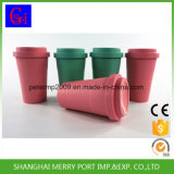 Eco Friendly Material 400ml Bamboo Fiber Coffee Cup with Lid and Silicone