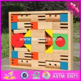 2017 Wholesale New Design 40 Pieces Children Wooden Building Block High Quality Kids Wooden Building Block with Box W13A114