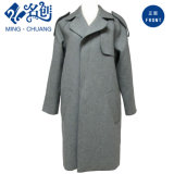 Gray Thermal Turn-Down Collar Fashion Long-Sleeve Newstyle Pocket Simple-and-Generous Fashion Coat