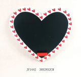 Wooden Heart Shaped Valentine Wall Art Blackboard (JF1442)