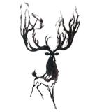Fashionable Elk Temporary Tattoo Stickers Art Tattoo Sticker