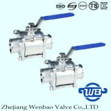 3PC Quick Connection Stainless Steel 316 Sanitary Ball Valve