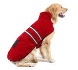 Double Side Coral Fleece Windproof Reflective Dog Outdoor Coat