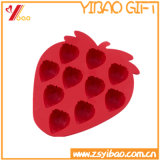 Hot Sale Food Grade Kitchenware Strawberry Silicone Ice Cube Tray