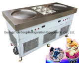 Double Pan Thailand Rolled Fried Ice Cream Machine