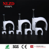 Round Cable Holder Clip with Steel Nail Multi Sizes, Support Free Samples