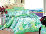 Colorful Flower Pattern Microfiber Plain Dyed Cheap Bed Sheet Set Bedding Set Home Textile