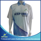 Custom Designed Full Sublimation Premium Team Uniforms Polo Shirt with Chest Logo