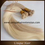 Wholesale Ash Blonde Hand Tied Hair Weft
