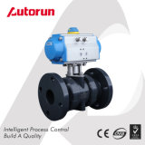 Flange Plastic Ball Valve with Actuator