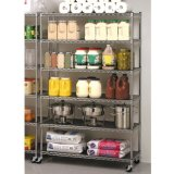 6-Layer Mobile Wire Shelving for Supermarket