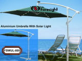 Aluminium Umbrella with Solar Light (FSWUL-005)