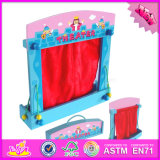 2016 Wholesale Kids Wooden Toy Puppet Theatre, Funny Wooden Toy Puppet Theatre, Most Popular Wooden Toy Puppet Theatre W10d140