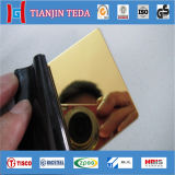 AISI 304 Ti Gold Mirror Stainless Steel Sheet for Decoration