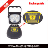 Super Bright 15W Portable Rechargeable LED Flash Work Lights with Magnetic Bottom