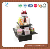 Customized Wooden Square Three Tier Display Table