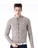 Men′s Long- Sleeve Casual Cotton Shirt