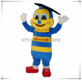 Doctor Bee Mascot Customized Mascot Costume with Logo