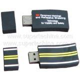 Silicone Rail Shaped USB Flash Drive (S1A-6131C)