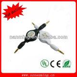 DC3.5 Cable Dual Male Retractable Audio Aux Cable