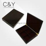 Dark Brown High Gloss Lacquer Wooden Tea Box