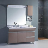 High End Double Faucet Countertop Bathroom Cabinets