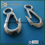 Stainless Steel Fix Eye Hook with Spring Latch