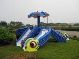 Vivid Fiberglass Octopus Waterslide
