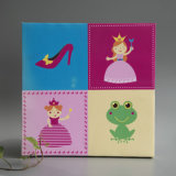 Princess Screenprinted Canvas Painting for Wall Decoration