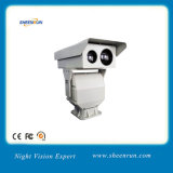 PTZ CCTV Dual Sensor Long Range IR Thermal Imaging and Visible Light Night Vision Camera